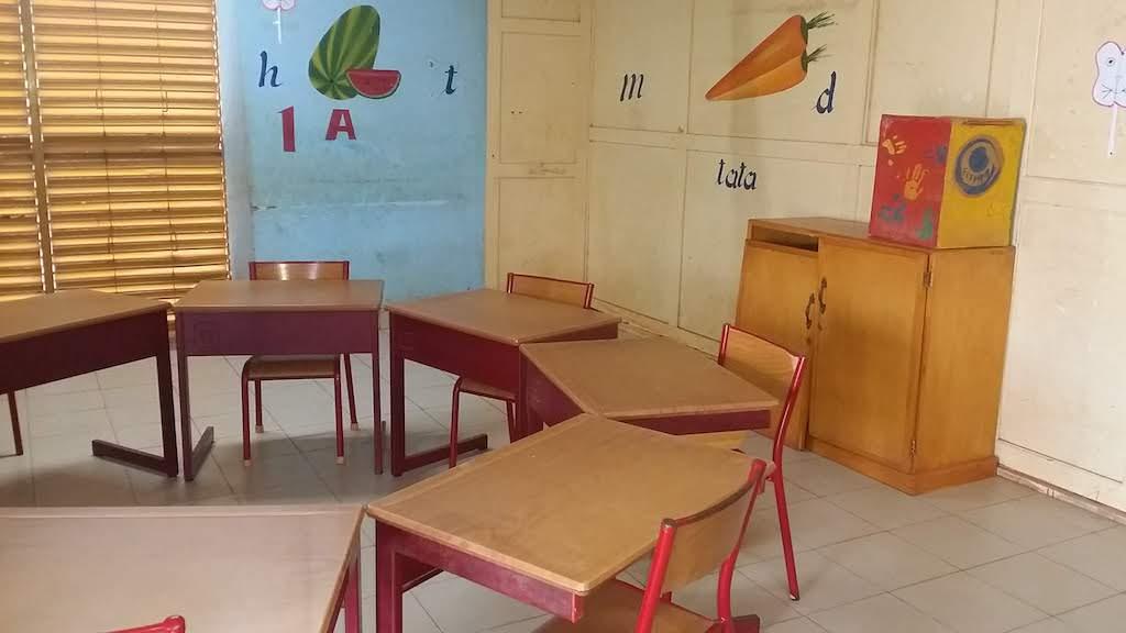 la salle dédiée à la scolarité des enfants